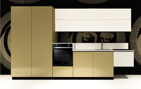 Replace Design kitchen - White Goldy